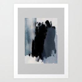 Abstract Brush Strokes 15 Art Print