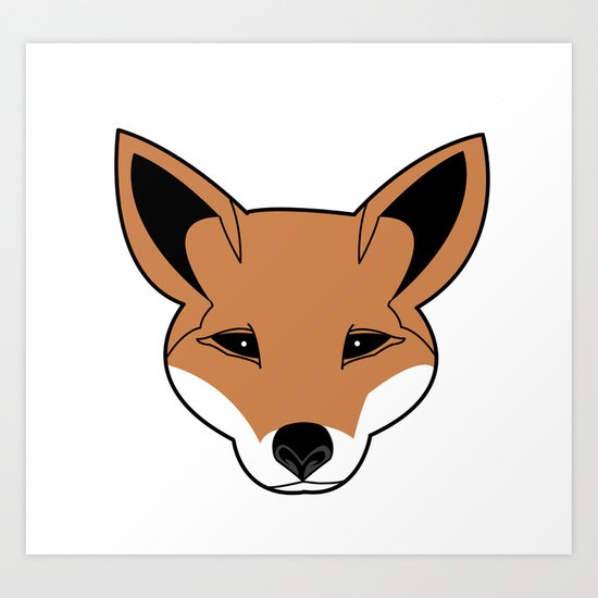 Fox the Fox Art Print