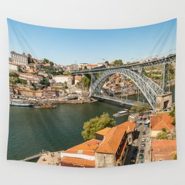 Porto Panoramic Wall Tapestry