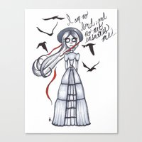 jane eyre Canvas Prints featuring Jane Eyre by Natalie Easton