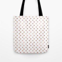 rose gold hearts Tote Bag