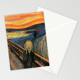 "Edvard Munch, "" The Scream "" Stationery Cards"