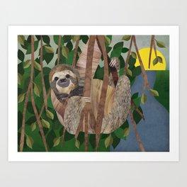 Three Toed Sloth February 2014 Print #2 Art Print