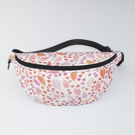 Leaves and Dots | Red, Orange and Pink Fanny Pack