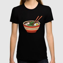 Ramen Bowl Pattern in Orange T-shirt