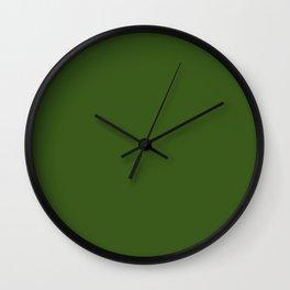 Khaki Green Wall Clock