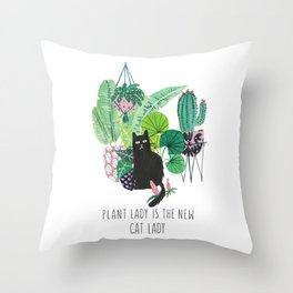 Plan Lady is the new cat lady! Throw Pillow