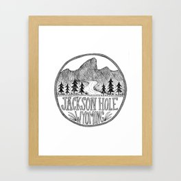 Jackson Hole Wyoming Framed Art Print