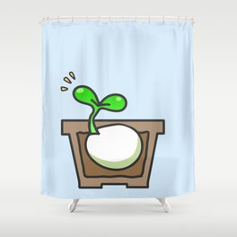 Germinated seed Shower Curtain