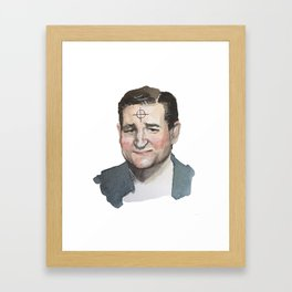 Ted Cruz is the Zodiac Killer. Framed Art Print