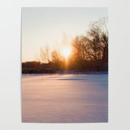 Winter on the lake Poster