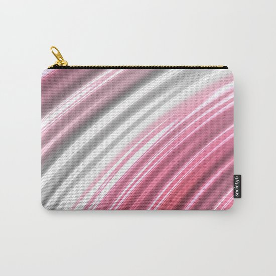 Pink Candy Stripes Carry-All Pouch