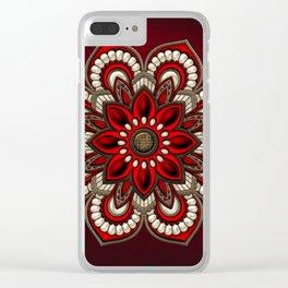 Wonderful noble mandala design Clear iPhone Case