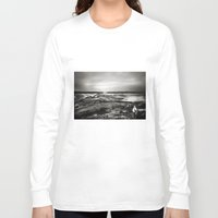 scotland Long Sleeve T-shirts featuring Cramond, Scotland by Mara Brioni Art Photography