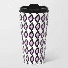 Digital Vector Graphic Black & Violet Diamonds Travel Mug