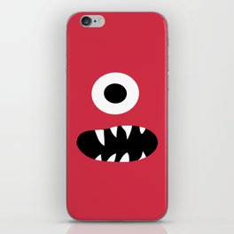 Kids Silly Red One Eyed Monster iPhone Skin