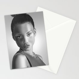 Black and White model Stationery Cards
