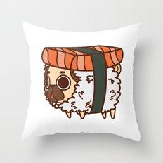Puglie Salmon Sushi Throw Pillow