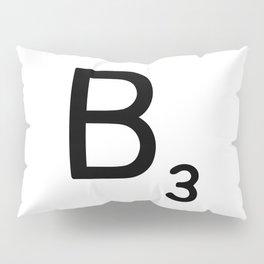 Letter B - Custom Scrabble Letter Wall Art - Scrabble B Pillow Sham