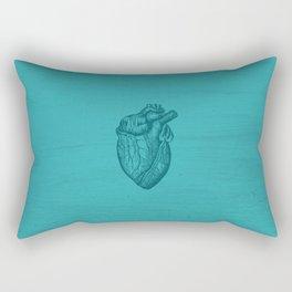 Blue Heart Rectangular Pillow