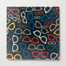 Colorful Smart Glasses Pattern Metal Print