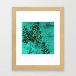 Botanical Turquoise Framed Art Print