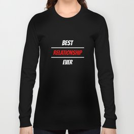 Happy Valentines as a funny valentine t shirt present Long Sleeve T-shirt