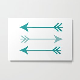 teal arrows Metal Print