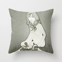 Pale Blossom Throw Pillow