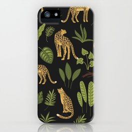 Can A Leopard Change Its Spots? Tropical Leaf  Pattern iPhone Case