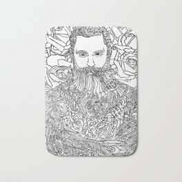Tattooed with Roses Bath Mat