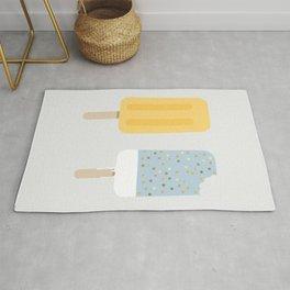 Icecream yellow grey Rug