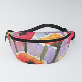 Colorful Orange Poppies - Watercolor Fanny Pack