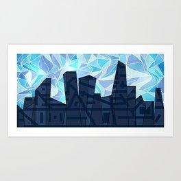 Barruf's Skyline In Blue Art Print