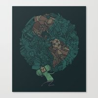 katamari Canvas Prints featuring Prince Atlas by Hector Mansilla