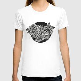 Line Work Rose Trio T-shirt