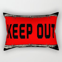 Barbed Wire Keep Out Rectangular Pillow