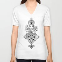 ganesh V-neck T-shirts featuring Ganesh by N.I.S.