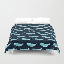 Watercolor Beluga pattern Duvet Cover