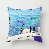 spain Throw Pillows featuring spain by Natalee