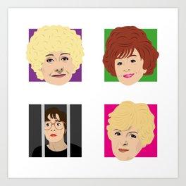 Coronation Street - Vera, Rita, Ivy and Deirdre Art Print