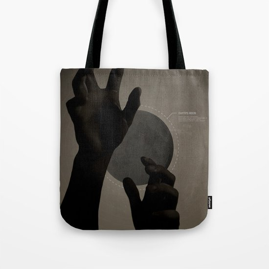 Hand's on the Moon Tote Bag