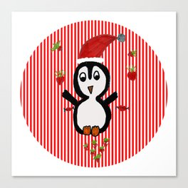 My Penguin   Christmas Spirit Canvas Print