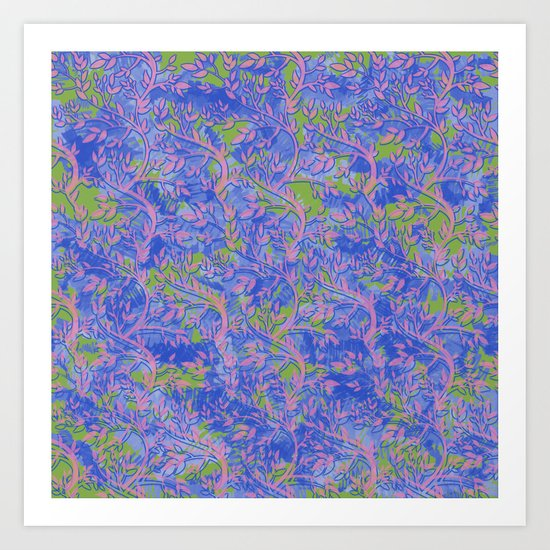 Shoots, Stems and Leaves abstract Art Print