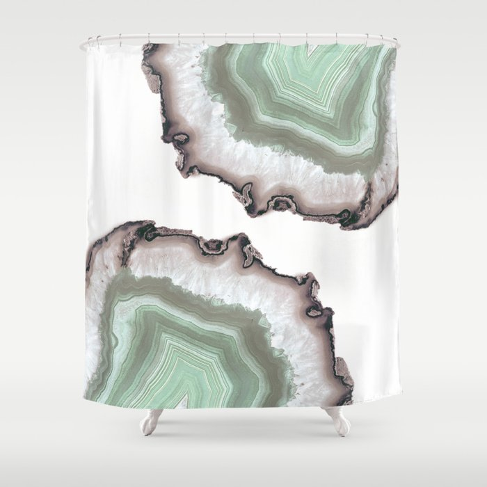Light Water Agate Shower Curtain