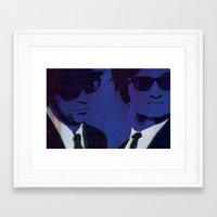 blues brothers Framed Art Prints featuring The Blues Brothers by Hiphopanonymous