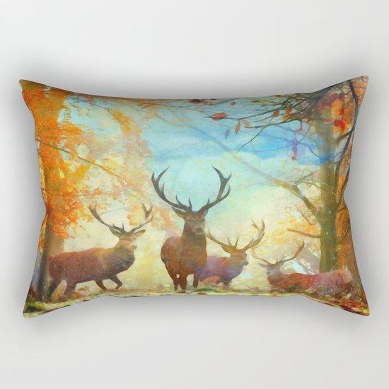 Autumn Forest Watch Rectangular Pillow