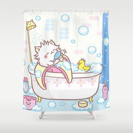 Banana Cat Bananya T-Shirt Shower Curtain