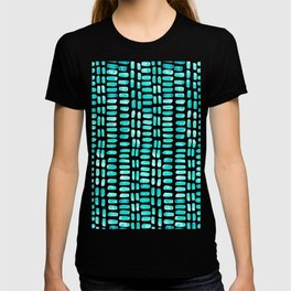 Abstract rectangles - turquoise T-shirt