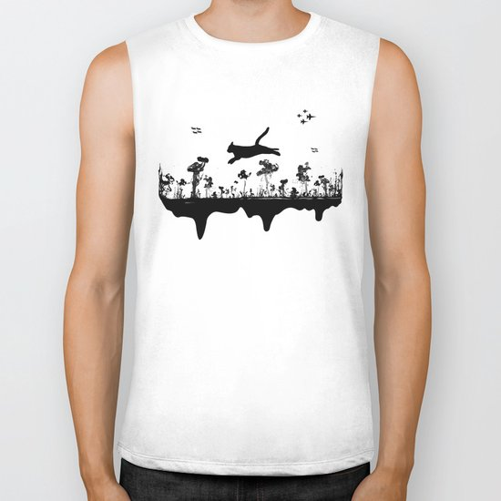 The Cat and Ink drop bombs Biker Tank